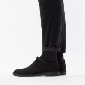 נעליים Clarks Originals לגברים Clarks Originals Desert London Black Suede - שחור