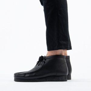 נעליים Clarks Originals לגברים Clarks Originals Wallabee Boot - שחור