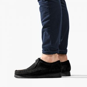 נעליים Clarks Originals לגברים Clarks Originals Wallabee - שחור