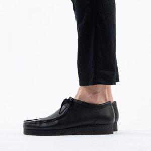 נעליים Clarks Originals לגברים Clarks Originals Wallabee - שחור מבריק