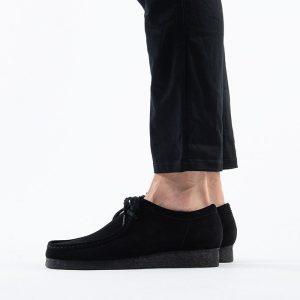 נעליים Clarks Originals לגברים Clarks Originals Wallabee - שחור פחם