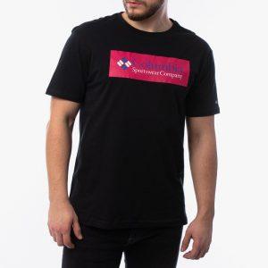 חולצת T קולומביה לגברים Columbia North Cascadesu - שחור/ורוד