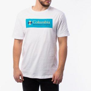 חולצת T קולומביה לגברים Columbia North Cascadesu - לבן