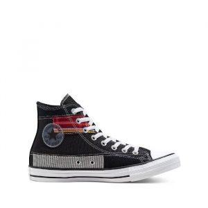 נעליים קונברס לגברים Converse Chuck Tas Patchwork High - שחור