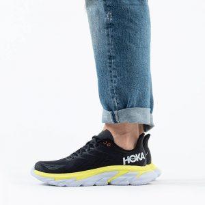 נעליים הוקה לגברים Hoka One One M Clifton Edge - שחור/צהוב