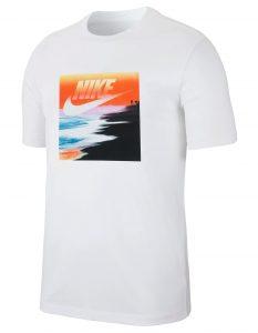 ביגוד נייק לגברים Nike SS TEE SUMMER PHOTO 3 - לבן