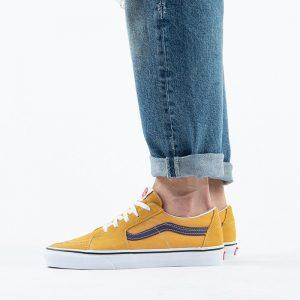 נעלי סניקרס ואנס לגברים Vans Sk8-Low - צהוב