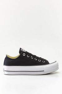 נעלי סניקרס קונברס לנשים Converse Chuck Taylor All Star Lift - שחור/לבן