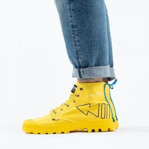 נעליים פלדיום לגברים Palladium Pampa Dare Rew FWD - צהוב