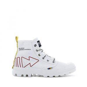 נעליים פלדיום לגברים Palladium Pampa Dare Rew Fwd - לבן