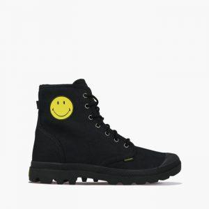 נעליים פלדיום לגברים Palladium x Smiley Pampa Fest Pack - שחור