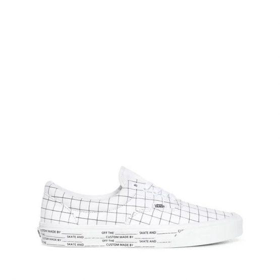 נעלי סניקרס ואנס לגברים Vans Ua Era DIY - לבן