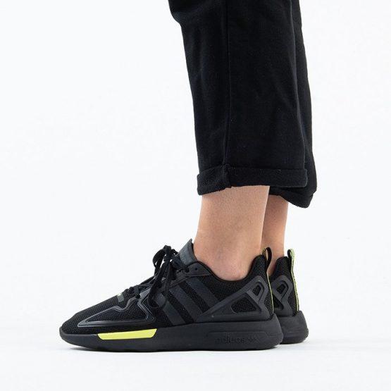 נעלי סניקרס אדידס לנשים Adidas Originals ZX 2K Flux - שחור/צהוב