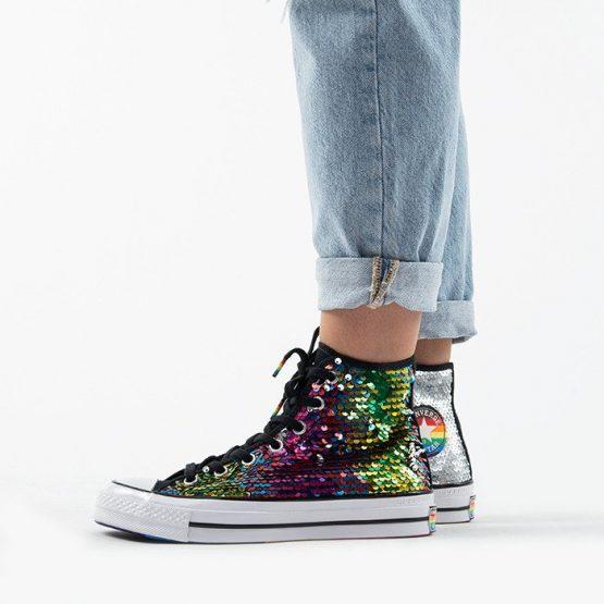 נעלי סניקרס קונברס לנשים Converse Chuck 70 Hi Top Pride Pride Never Stops - צבעוני