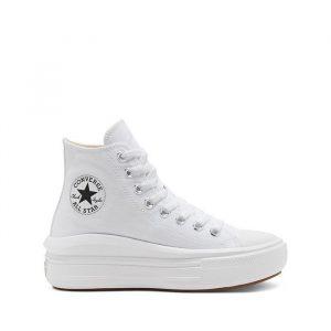 נעלי סניקרס קונברס לנשים Converse Chuck Taylor All Star Movie - לבן