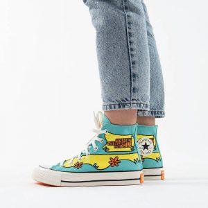 נעליים קונברס לנשים Converse x Scooby-Doo Chuck 70 Hi The Mystery Machine - צבעוני בהיר