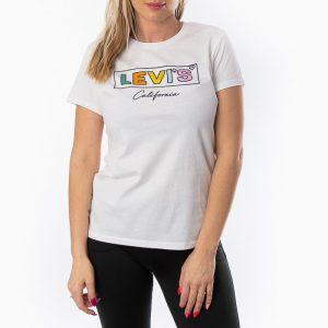 ביגוד ליוויס לנשים Levi's The Perfect Cali Box - לבן