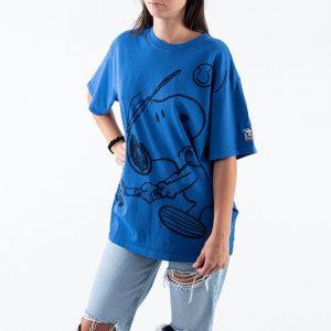 ביגוד ליוויס לנשים Levi's x Peanuts Snoopy Tennis - כחול