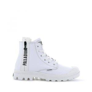 נעליים פלדיום לנשים Palladium Pampa Ubn Zips Lth - לבן