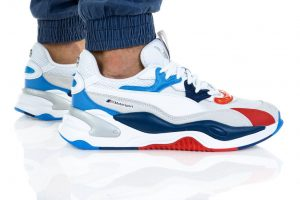 נעליים פומה לגברים PUMA BMW MMS RS-2K - לבן  כחול  אדום