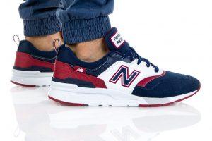 נעלי סניקרס ניו באלאנס לגברים New Balance CM997 - לבן  כחול  אדום