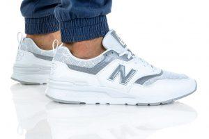 נעליים ניו באלאנס לגברים New Balance CM997 - לבן/כסף
