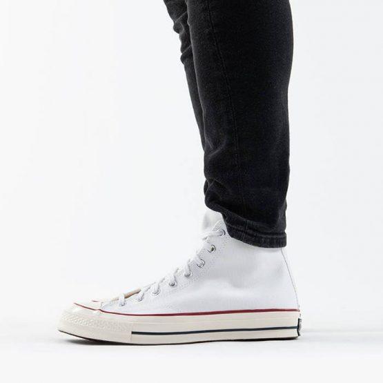 נעליים קונברס לגברים Converse CHUCK 70 HI - לבן