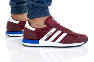 נעלי סניקרס אדידס לגברים Adidas Originals USA 84 - בורדו