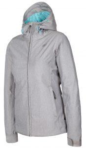 ג'קט ומעיל פור אף לנשים 4F winter jacket - אפור