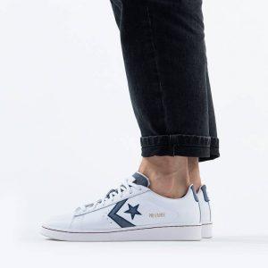 נעליים קונברס לגברים Converse Pro Leather Gold Standard - לבן