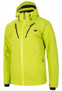 ג'קט ומעיל פור אף לגברים 4F waterproof ski jacket - צהוב