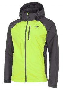 ג'קט ומעיל פור אף לגברים 4F Rain and wind jacket - ירוק