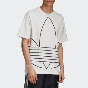 ביגוד Adidas Originals לגברים Adidas Originals Big Trefoil Out Tee - לבן