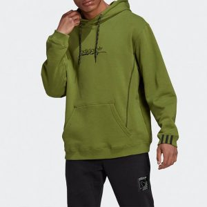 ביגוד אדידס לגברים Adidas Originals D Hoody - ירוק