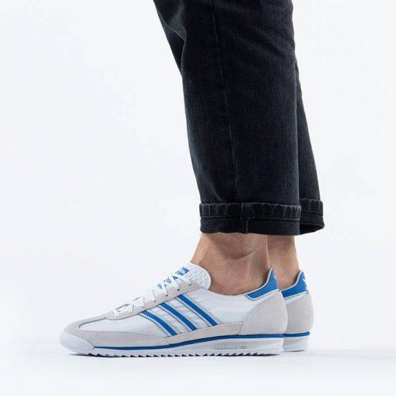 נעלי סניקרס אדידס לגברים Adidas Originals Sl 7200 - לבן/ כחול