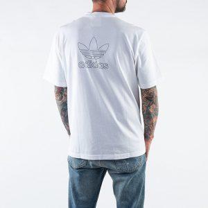 ביגוד Adidas Originals לגברים Adidas Originals Trefoil Tee - לבן