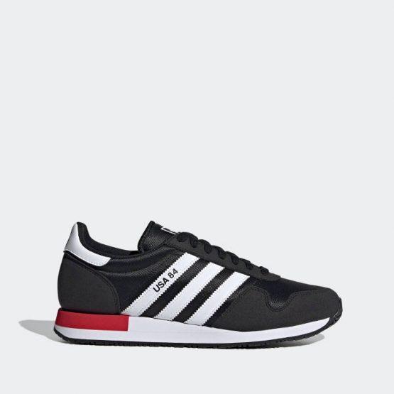 נעלי סניקרס אדידס לגברים Adidas Originals USA 84 - שחור