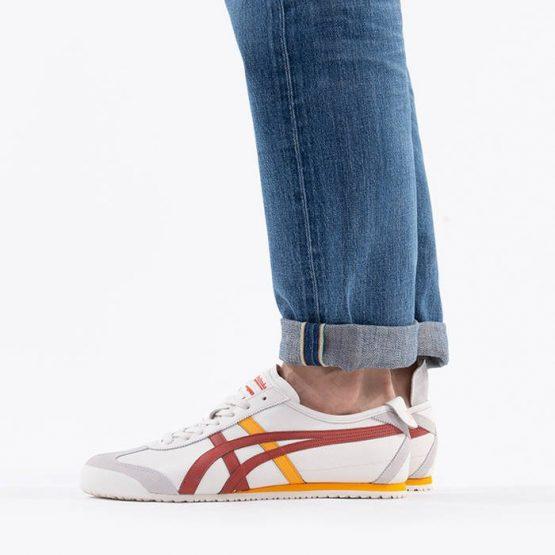 נעליים אסיקס לגברים Asics Tiger Mexico 66 - לבן/אדום