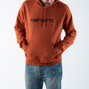 ביגוד קארהארט לגברים Carhartt WIP Hooded  Sweatshirt - כתום