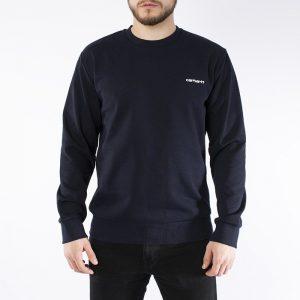 סווטשירט קארהארט לגברים Carhartt WIP Script Embroidery - כחול כהה