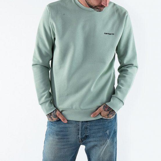 סווטשירט קארהארט לגברים Carhartt WIP Script Embroidery - ירוק