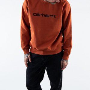 ביגוד קארהארט לגברים Carhartt WIP Sweatshirt - כתום