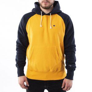 ביגוד צ'מפיון לגברים Champion Logo Hood Colour Block - צהוב