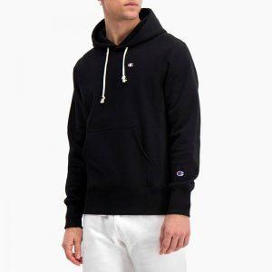 סווטשירט צ'מפיון לגברים Champion Sweatshirt - שחור מלא