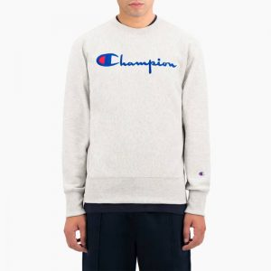 סווטשירט צ'מפיון לגברים Champion Sweatshirt - לבן הדפס