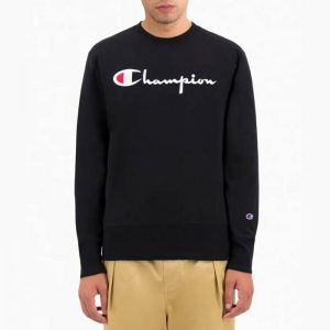 סווטשירט צ'מפיון לגברים Champion Sweatshirt - שחור הדפס