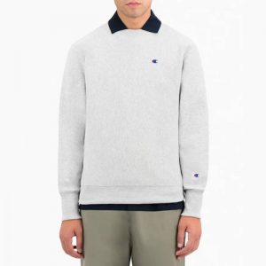סווטשירט צ'מפיון לגברים Champion Sweatshirt - לבן
