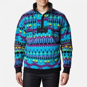 ביגוד קולומביה לגברים Columbia Powder Keg Fleece - צבעוני בהיר