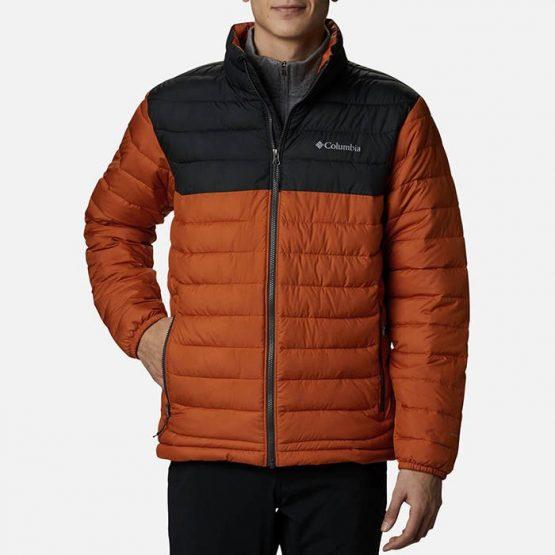 ג'קט ומעיל קולומביה לגברים Columbia Powder Lite - שחור/כתום