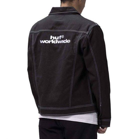ביגוד HUF לגברים HUF Lincoln Trucker Jacket - שחור